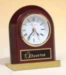 Traditional Clock with Gold Metal Columns Achievement Award Trophies