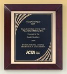 Cherry Finish Wood Frame with Brass Plate Achievement Award Trophies
