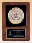 World Time Clock Walnut Stained, Piano Finish Case Achievement Award Trophies