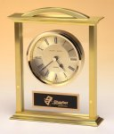 Traditional Style Carriage Clock with Metal Gold Tone Case Achievement Award Trophies