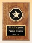 American Walnut Star Plaque Achievement Award Trophies