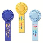 Fun Rosette Award Ribbon Baseball Trophy Awards