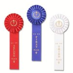 Classic Single Streamer Rosette Award Ribbon Cheerleading Trophy Awards