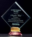 Diamond Acrylic Award on a Rosewood Piano Finish Base Employee Awards