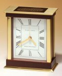 Case Clock with Wood and Metal Accents Executive Gift Awards