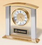 Arched Gold and Silver Clock Executive Gift Awards