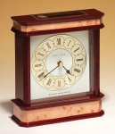 High Gloss Wooden Case Clock Golf Awards