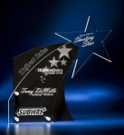 Clear Star with Black Accent Acrylic Award Modern Design Awards