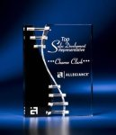 Wave Crevice Acrylic Award with Black Accent Religious Awards