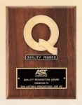 American Walnut Quality Plaque Sales Awards