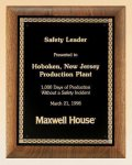 Savanna American Walnut Plaque with Embossed Back Plate Sales Awards