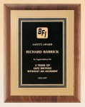 American Walnut Plaque with Gold Embossed Frame Sales Awards