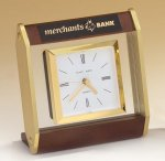 Floating Glass Clock with Square Movement. Secretary Gift Awards